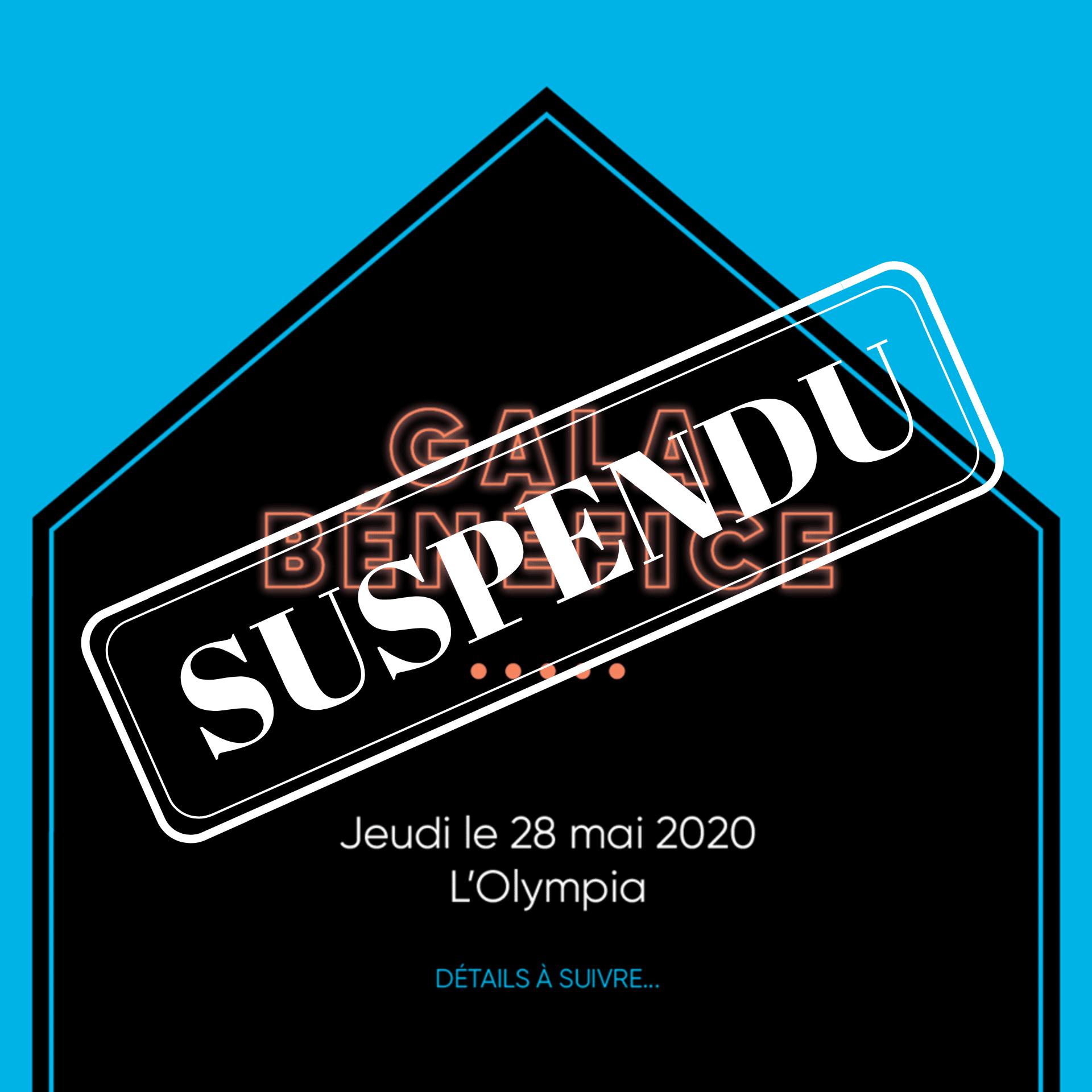 Gala 2020 - Suspendu